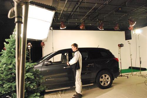 Car shoot in studio