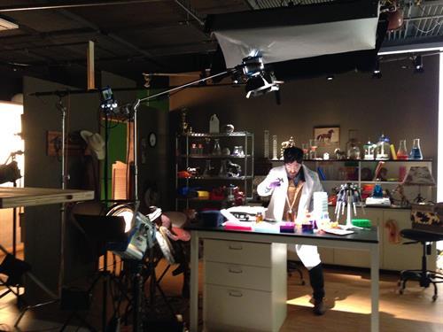 Western set shoot in studio