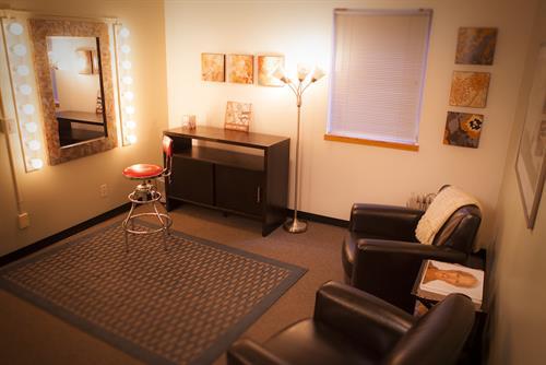 Green Room, client area off studio