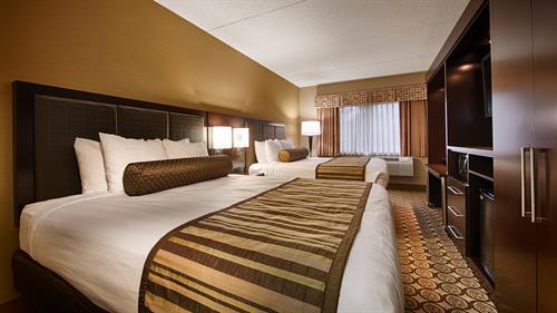 "New Guestrooms featuring pillow top mattress, 42"" flat screen TV, numerous USB Ports"