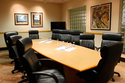 Executive Board Room for 12 People featuring a Mondo Board