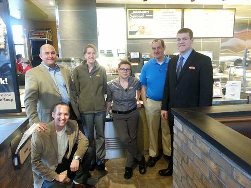 The management team (left to right): Tim, Greg, Betsy, Cassie, Shawn, and Zach