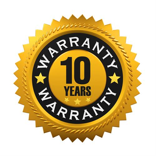 Industry Leading 10 year workmanship Warranty