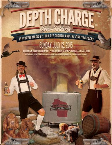 Wisconsin Brewing Company 1st Annual Depth Charge event poster