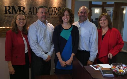 From left to right:  Susan Haugen, Doug Giageos, Dara Biederman, Erik Mikkelson, and Lisa Sowls