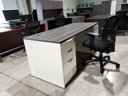 New Laminate Desk in our Office Furniture Warehouse Showroom