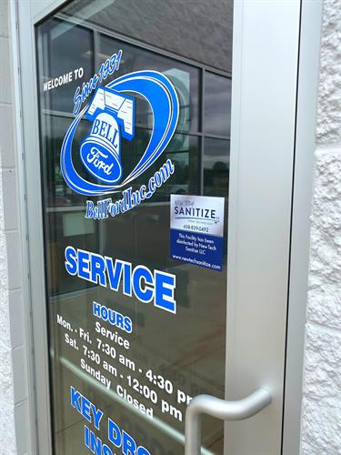We provide window decal to let customers know your protected