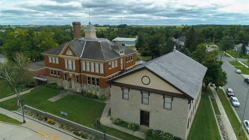Aerial view of The Mining & Rollo Jamison Museums