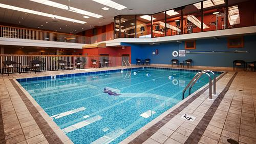 Our indoor pool and fitnes center allow for a relaxing day on the pool deck, or quality time on the elliptical.