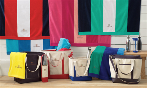 Lands' End Business iconic canvas tote bags and towels