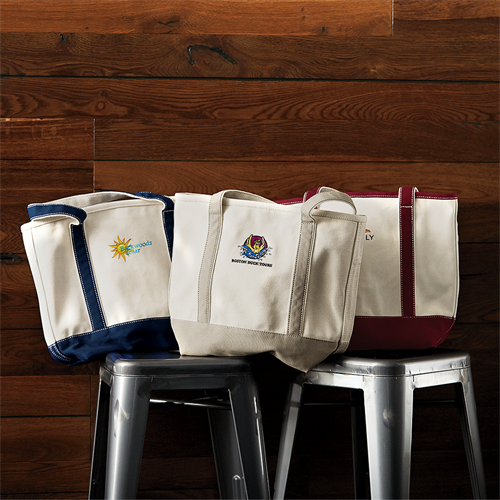 Lands' End Business iconic canvas tote bags