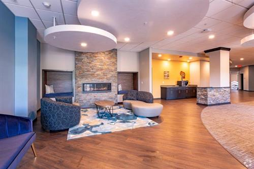 A welcoming lobby in our Ashwaubenon multi-family housing project.