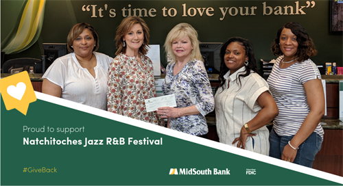 We are excited to sponsor and attend the 23rd Annual Natchitoches Jazz R&B Festival featuring Journey tribute band Resurrection, former Bad Company lead singer, Brian Howe and Smash Mouth on the main stage.