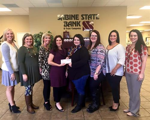 Sabine State Bank was a Platinum Sponsor for the 13th Annual Les Amies Butterfly Release