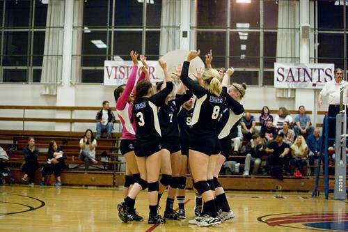 Volleyball Team win.