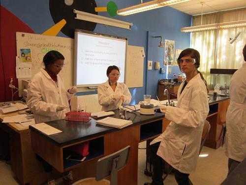Science lab team.