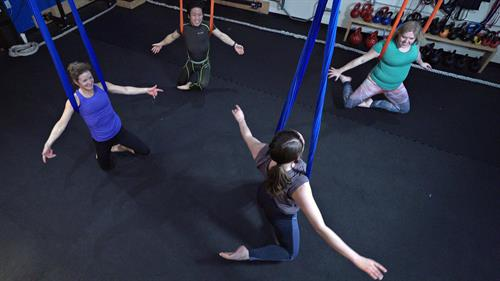 The only studio in West Seattle that offers Aerial Fitness