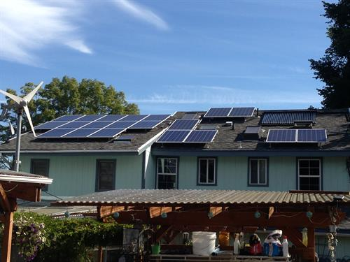 Keith's house in West Seattle.  100% Solar Electric Powered