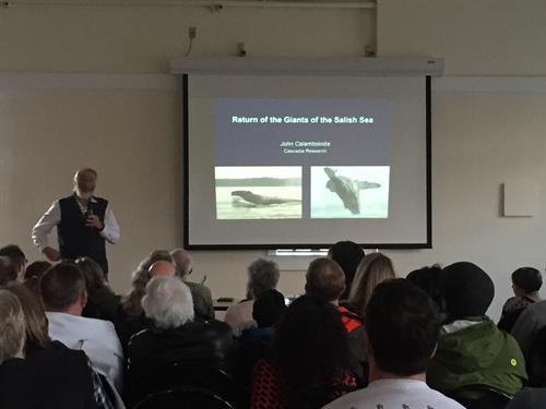 Orca Talk with John Calambokids, Dakota Place Park 2017