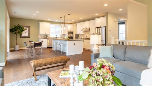 Staging & Photography - Great room & Kitchen