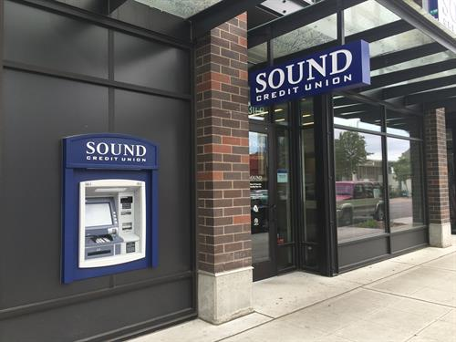 Sound Credit Union offers full-service banking with convenient access and ATM on California Ave SW.