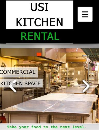 USI Kitchen Rental Commercial Kitchen