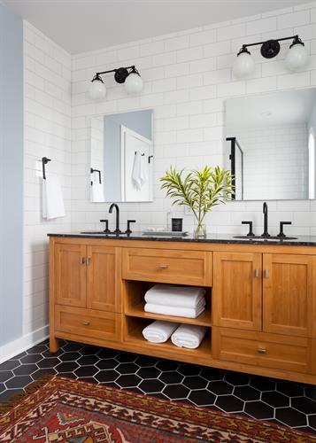 Award-Winning West Seattle Bathroom designed by Kirk Riley Design