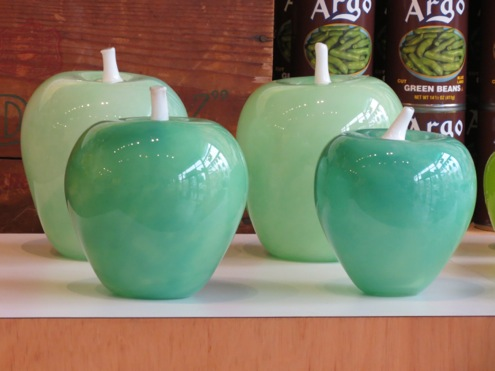 Apple sculptures benefit White Center Food Bank