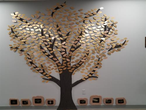 Individual donors are honored on our Donor Tree.