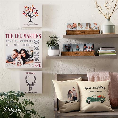 For the home: wall canvases, pillow covers & photo galleries.