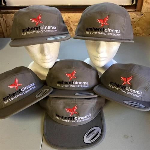 Embroidered hats for Amherst Cinema's to celebrate their 10th Anniversary