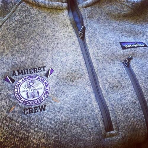 Embroidered Patagonia jackets for Amherst College Crew
