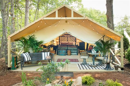 Sandy Pines Campground Glamping + Antiques on Nine