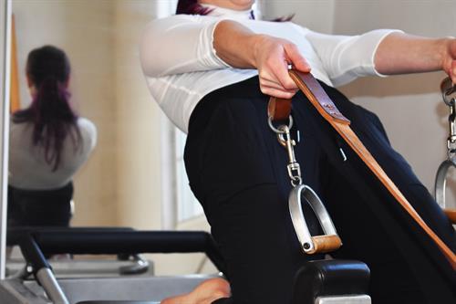 Pilates Reformer Thigh Stretch