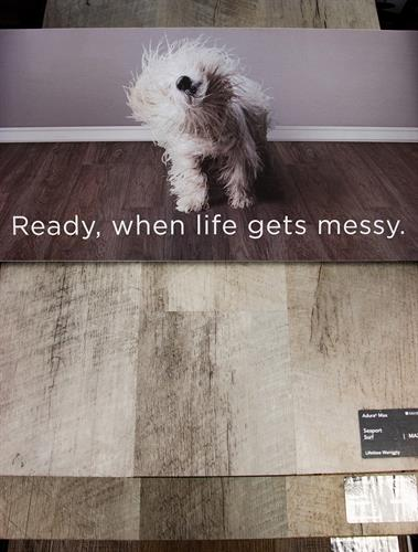 Floors can be messy
