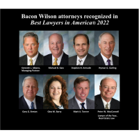 Bacon Wilson announces eight attorneys named to Best Lawyers in America 2022, including Peter MacConnell as Lawyer of the Year
