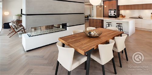TQ Construction  |  Open Concept Kitchen / Living / Dining  |  tqconstruction.ca