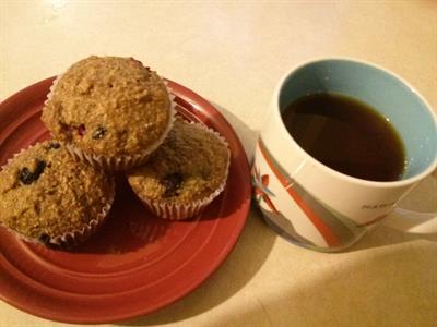 Grammie's Blueberry & Cranberry Bran Muffins