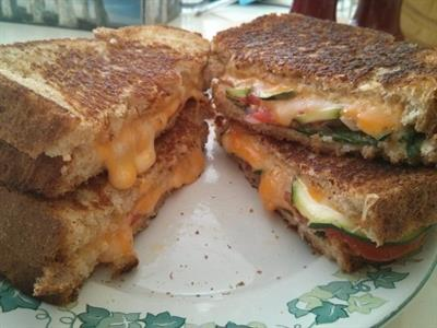 Vegetable Grilled Cheese Sandwiches