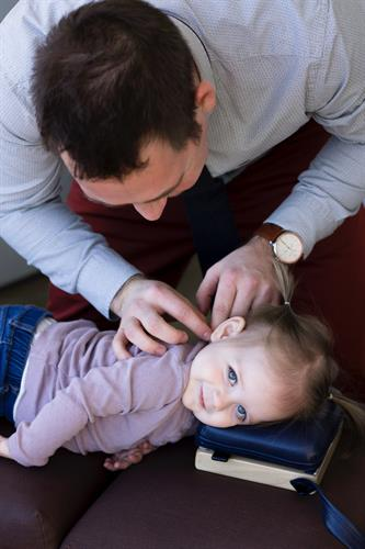 Our chiropractors see lots of babies and kids.