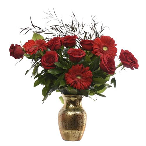 Besame Mucho Red Rose & Carn Romantic Arrangement