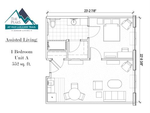 Assisted Living One-Bedroom Residence