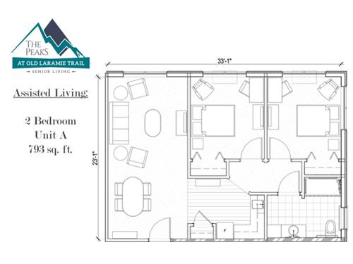 Assisted Living Two-Bedroom Residence