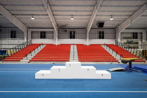 Bleacher seating for 500 allows us to host regional competitive meets.
