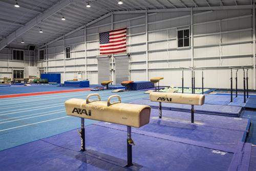 Our gym features full equipment for both men's and women's training and events.