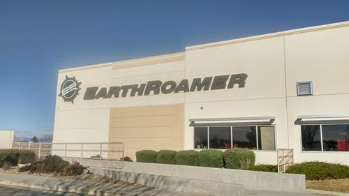 EarthRoamer Outdoor lighted sign during the day