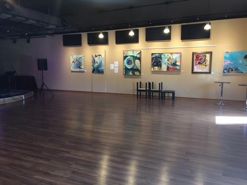 Art exhibitions and live music
