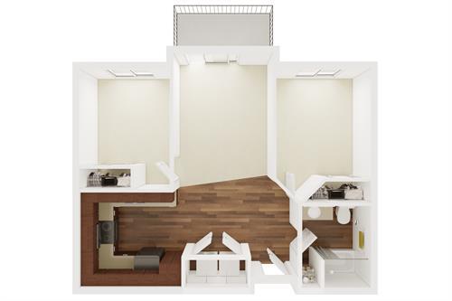 Small 2 Bedroom