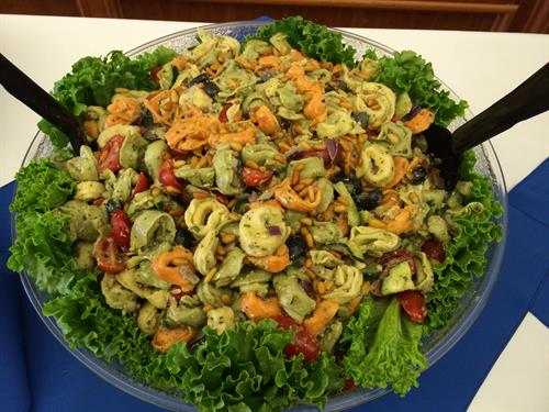 Cheese Tortellini Pesto Salad
