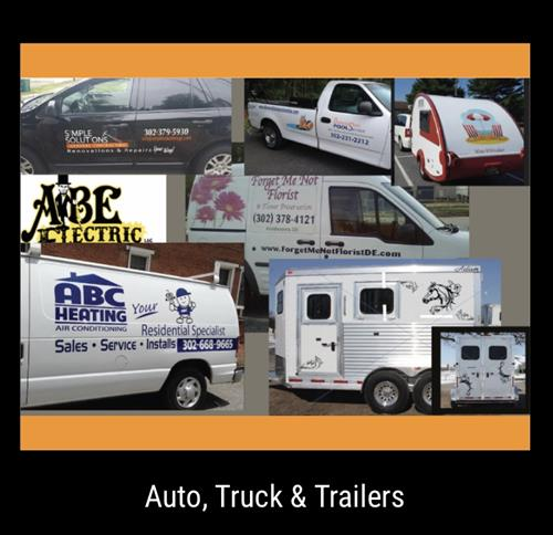 Auto trucks and boat graphics